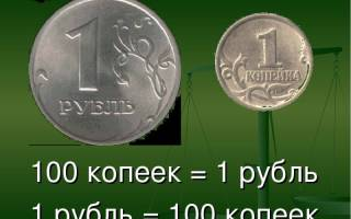 Сколько копеек в 1 рубле
