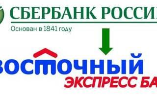 Как оплатить кредит банка восточный экспресс с карты сбербанка онлайн
