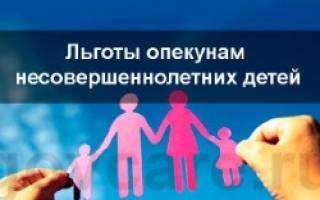 Льготы опекунам детей оставшихся без попечения родителей