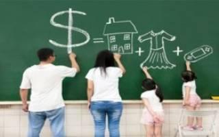 Семейный бюджет: таблица доходов и расходов семьи